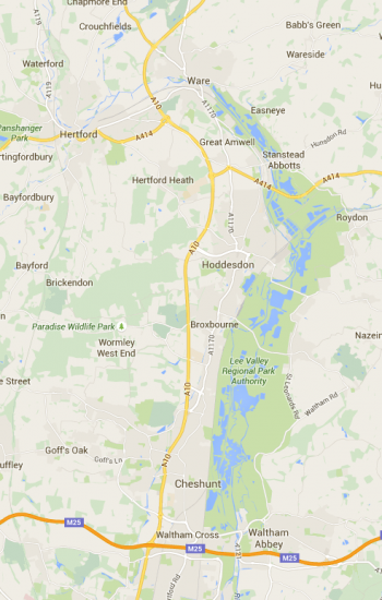 Broxbourne-Google-Maps