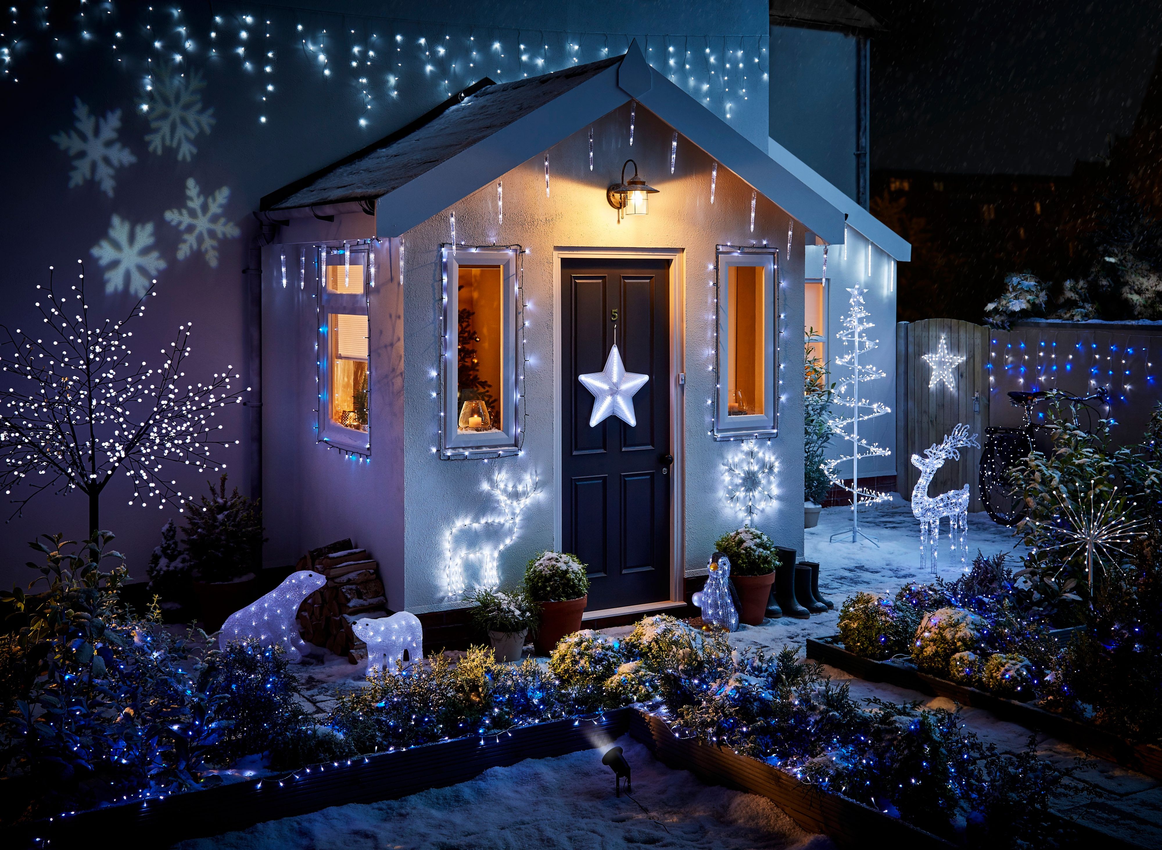 christmas house decorations keeping your belongings secure this ljs systems 12367